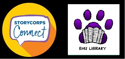 Story Corps and Library logos